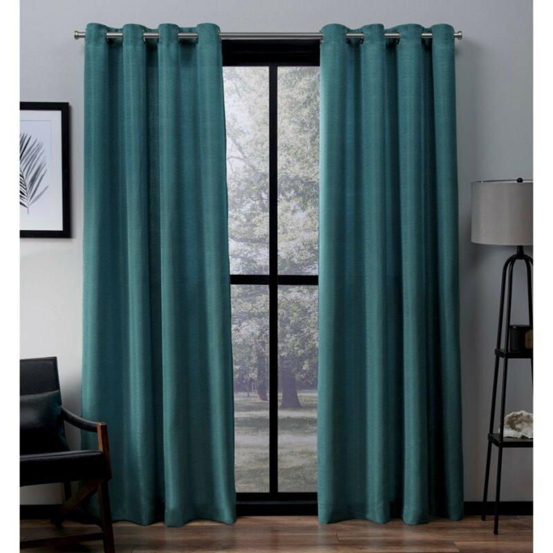 Langley Street Marnie Solid Light Filtering Grommet Curtain Panels