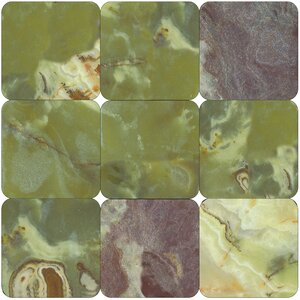 12'' x 12'' Onyx Field Tile in Polished Green