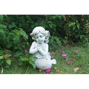 Ordinaire Hattie Mermaid Kneeling Holding Shell Statue