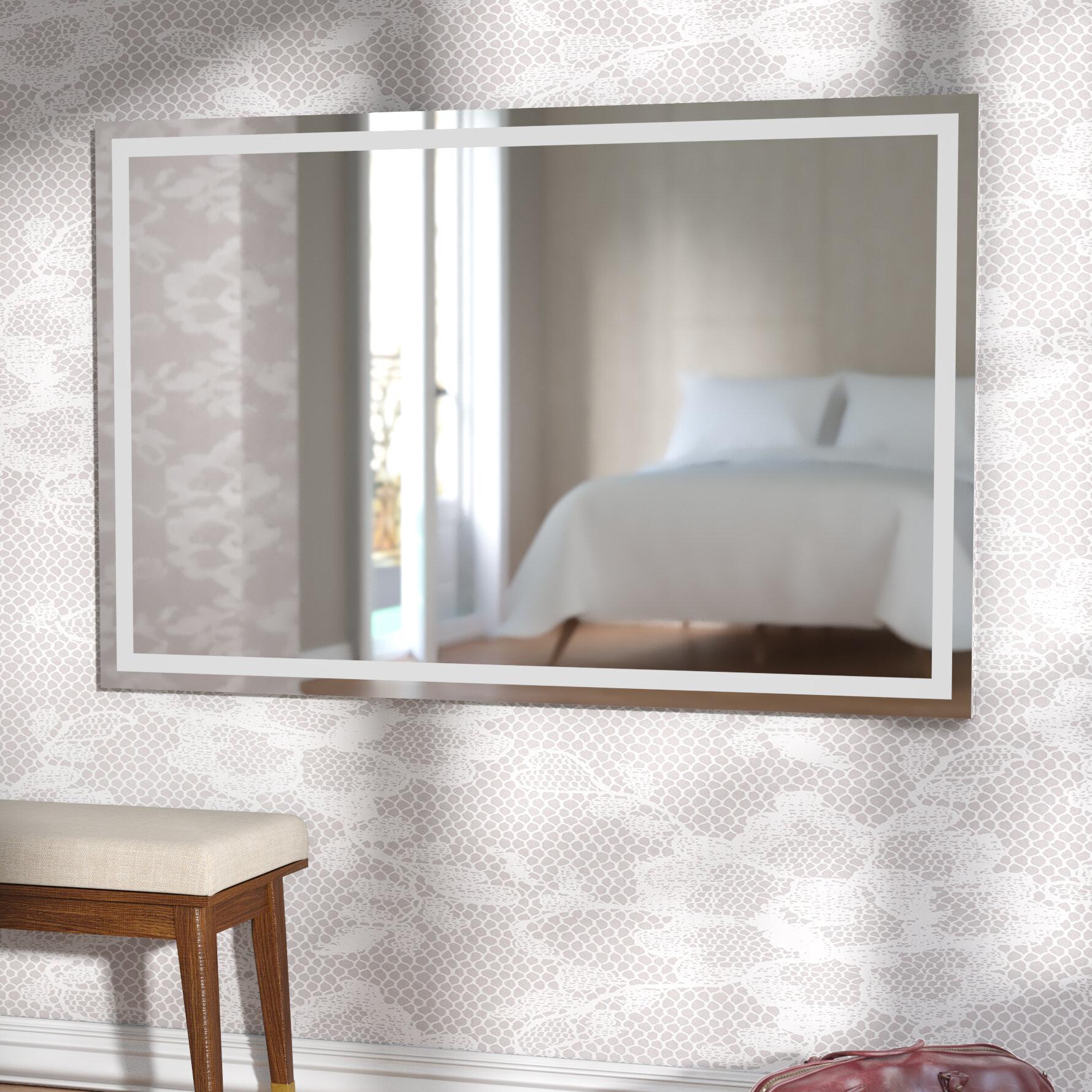 Wade Logan Aluminum Frame Electric Wall Mirror & Reviews | Wayfair