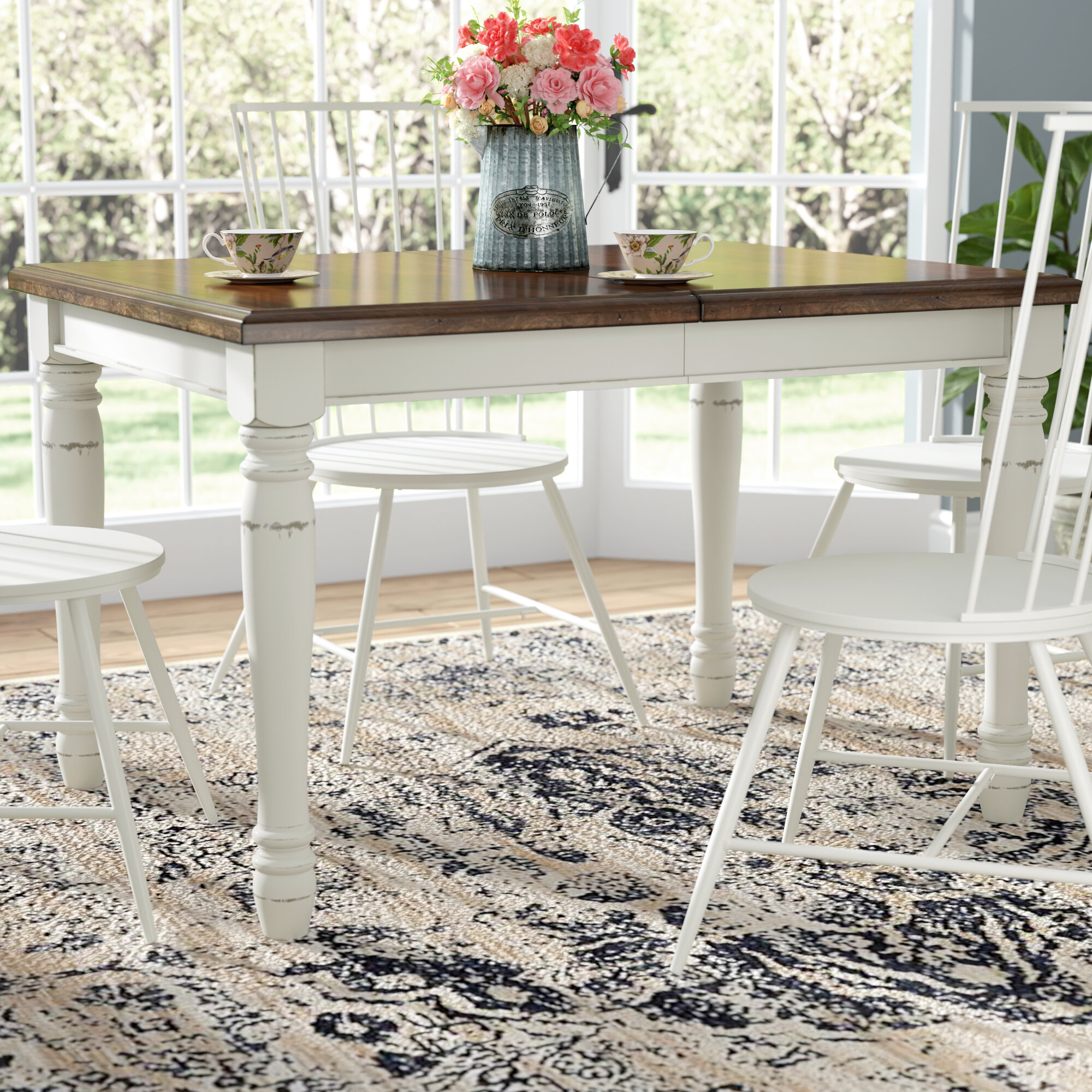 Laurel Foundry Modern Farmhouse Extendable Dining Table Reviews