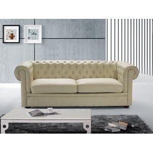 2-Sitzer Sofa Clackline aus Echtleder von Home & Haus
