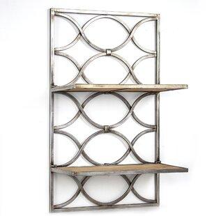 Hanning Wood And Metal Hanging Wall Shelf