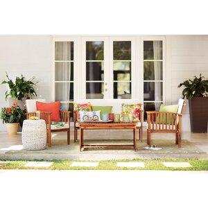 Firenze 4 Piece Sofa Set with Cushions