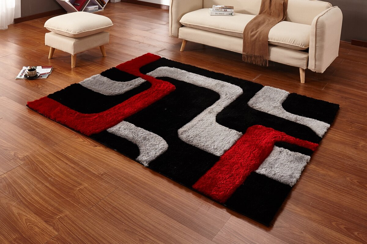 Red Black Gray Area Rug Rugs Ideas