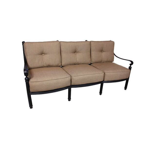 California Outdoor Designs Baldwin Deep Seating Sofa With Cushions Wayfair