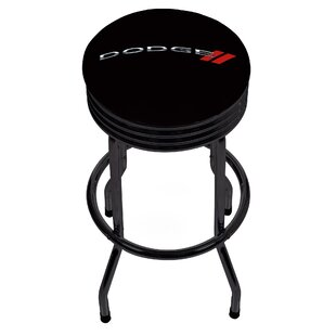 Dodge Logo Ribbed 28.5 Swivel Bar Stool