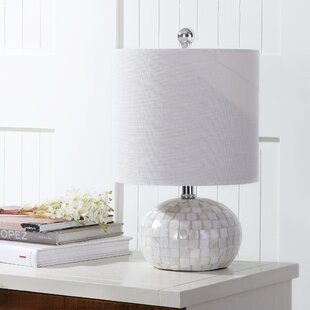 Capiz shell lamp wayfair chery seashell 16 table lamp aloadofball Images