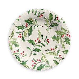 Holly Melamine Salad Plate (Set of 6)