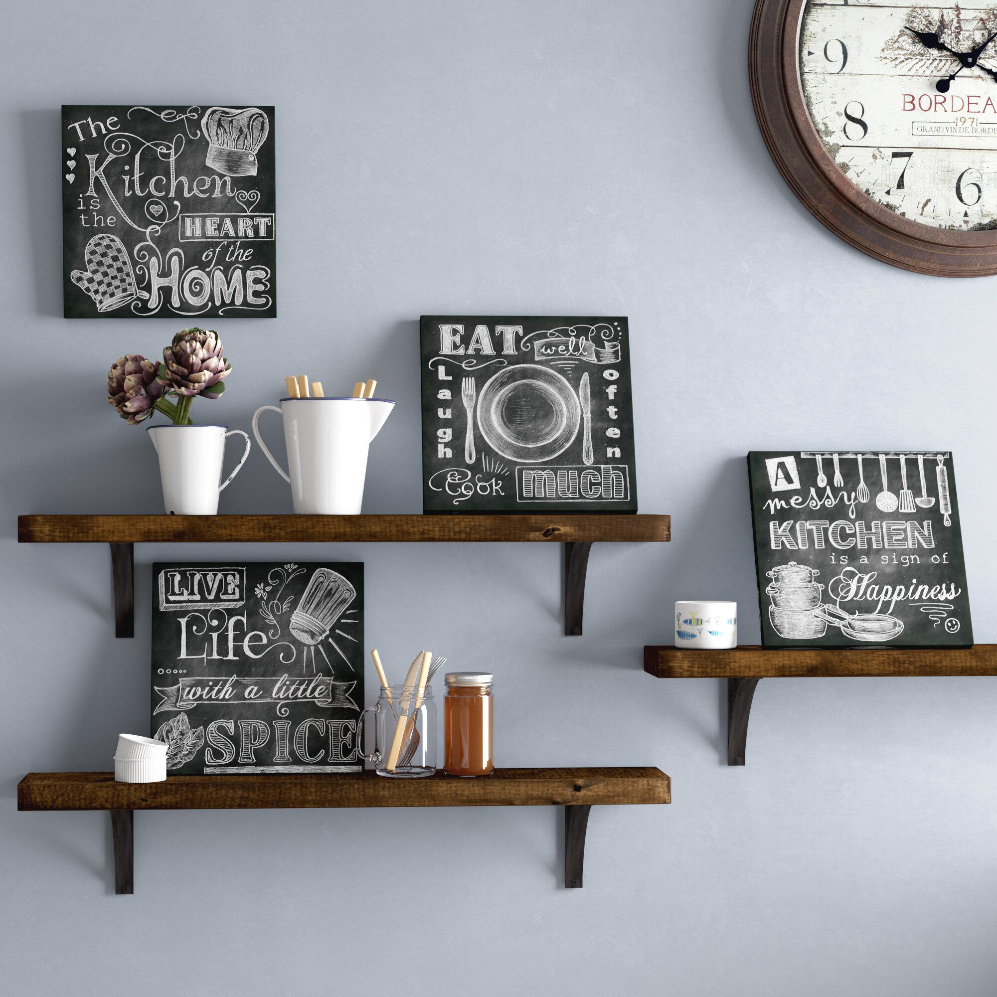 Beautiful, Fun, Chalkboard Kitchen Signs; Messy Kitchen, Heart of ...