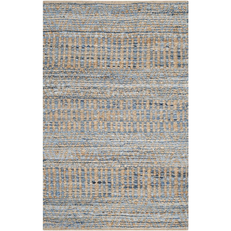 Trent Austin Design Bernd Hand Woven Natural Blue Area Rug