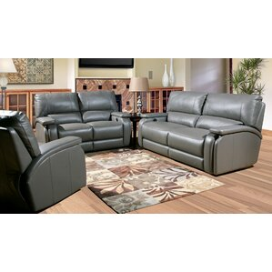 Red Barrel Studio Shelburn Leather Configurable Living Room Set Image