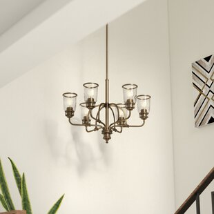 17 stories chandeliers birch lane laurenza traditional 6 light candle style chandelier aloadofball Image collections