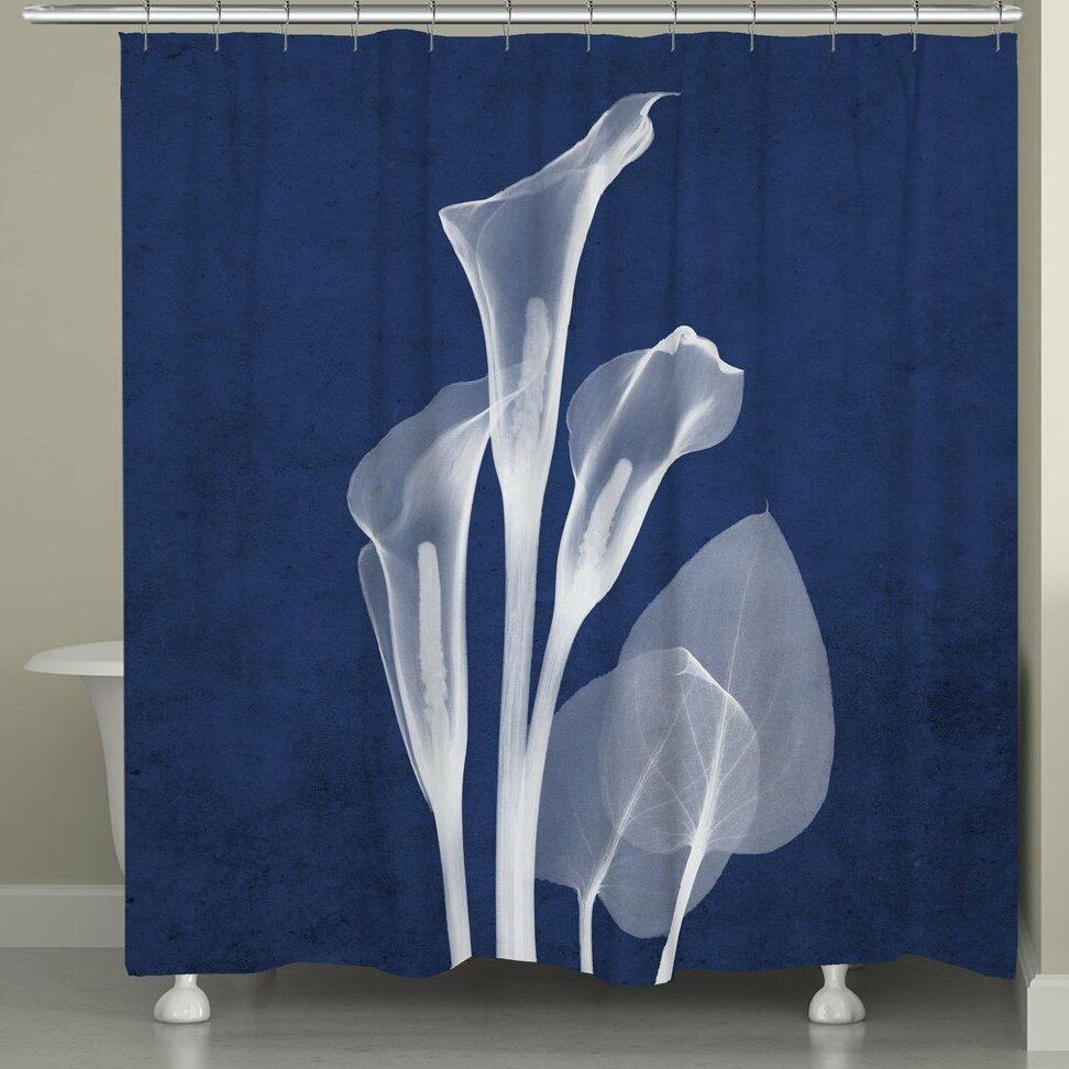 Latitude Run Fedler X Ray Calla Lilies Shower Curtain