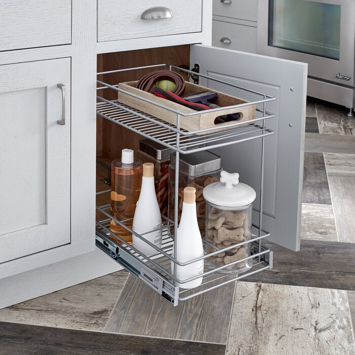 2 tier kitchen cabinet pull out drawer