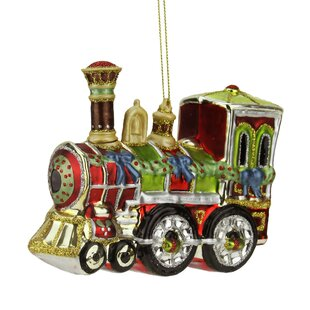 glass train ornament wayfair