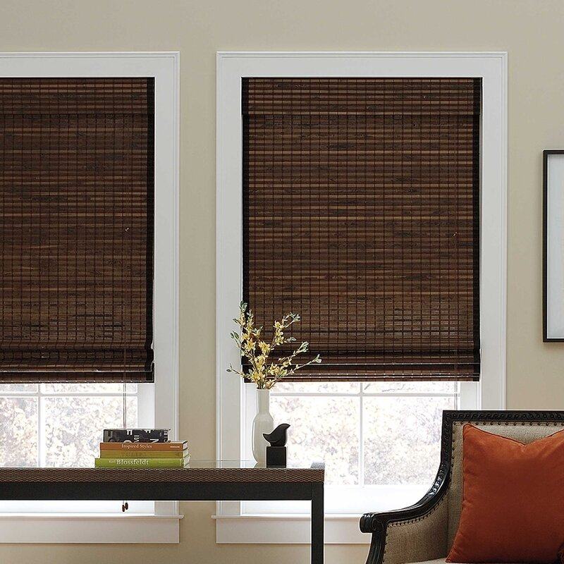 Chocolate Roman Shade. Blinds   Window Shades