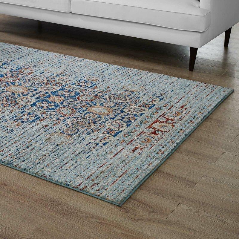 bloomsbury market naria distressed persian medallion 5x8 area rug in rh wayfair ca