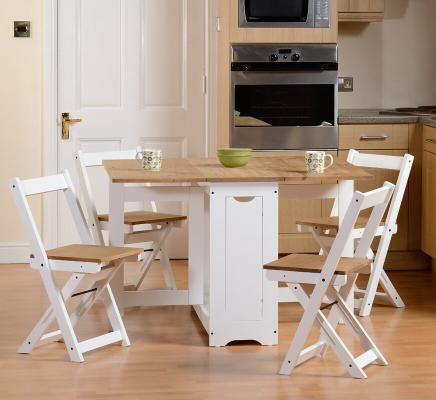 August Grove Southcase Folding Dining Set With 4 Chairs