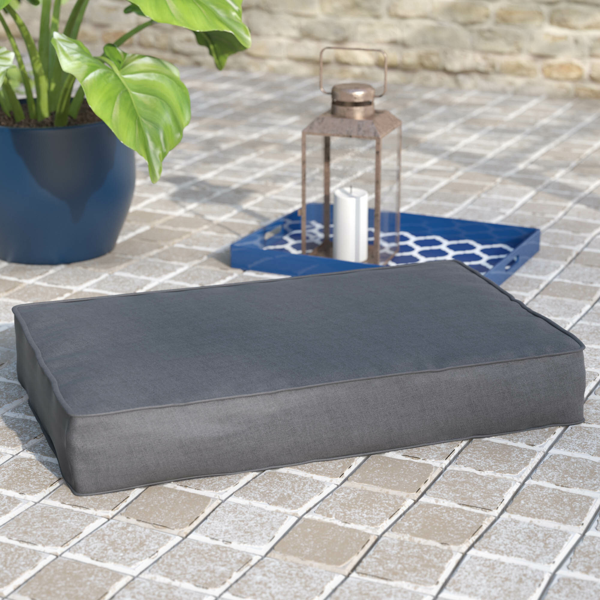 Rosecliff Heights Sunbrella Indoor Outdoor Floor Cushion Wayfair
