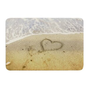 Beach Heart by Debbra Obertanec Bath Mat