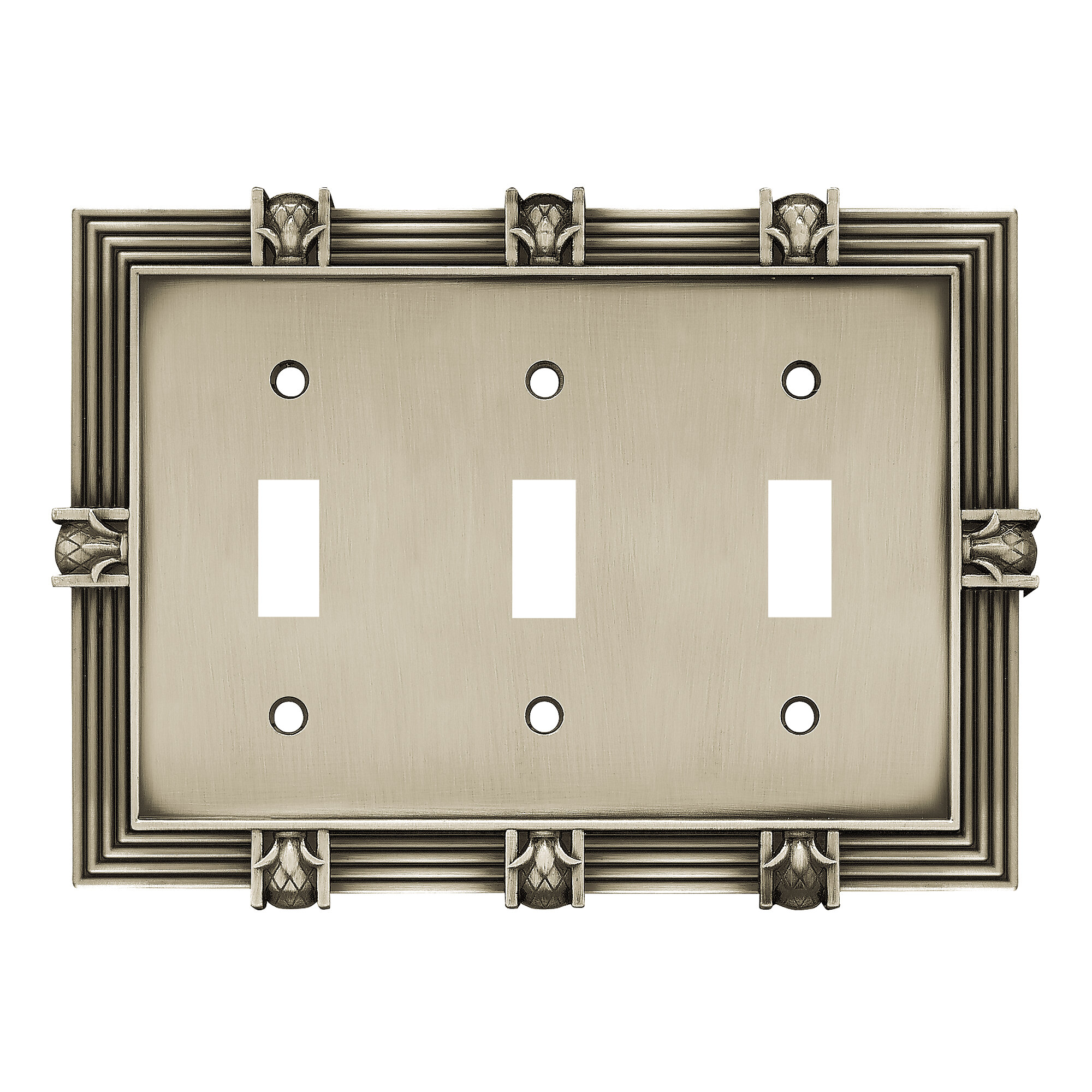 Pineapple 3-Gang Toggle Light Switch Wall Plate