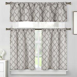 Blocker 3 Piece Kitchen Curtain Set