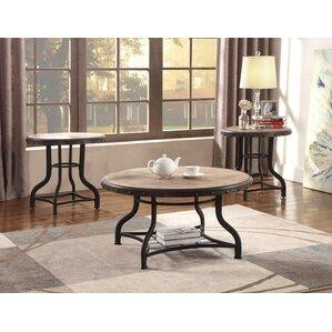 kenneth 3 piece coffee table set