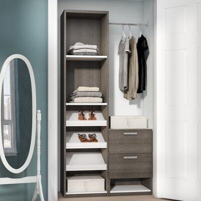 Double Hanging Wardrobe Closet Wayfair