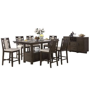 Pylle Hill 8 Piece Counter Height Dining Set Great Reviews