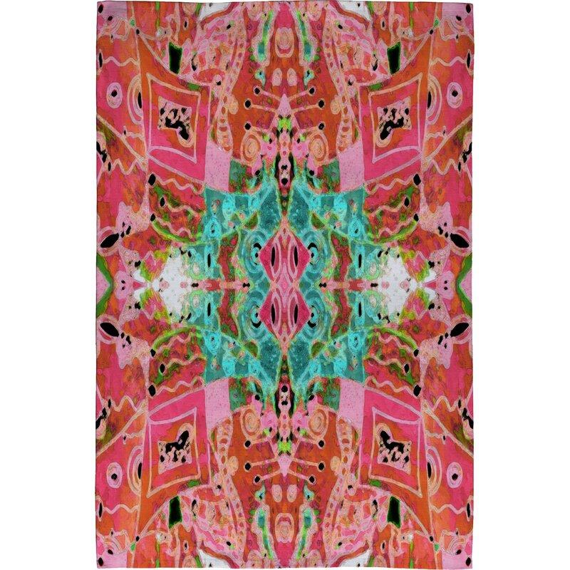 Deny Designs Ingrid Padilla Turquoise Area Rug Reviews: Deny Designs Ingrid Padilla Flora 1 Pink Area Rug