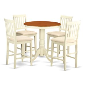 Eden 5 Piece Counter Height Pub Table Set by Woo..
