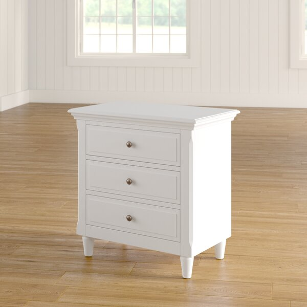 Three Posts Wickes 3 Drawer Nightstand Amp Reviews Wayfair Ca