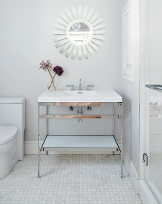 Neutral Patterned Bathroom Floor