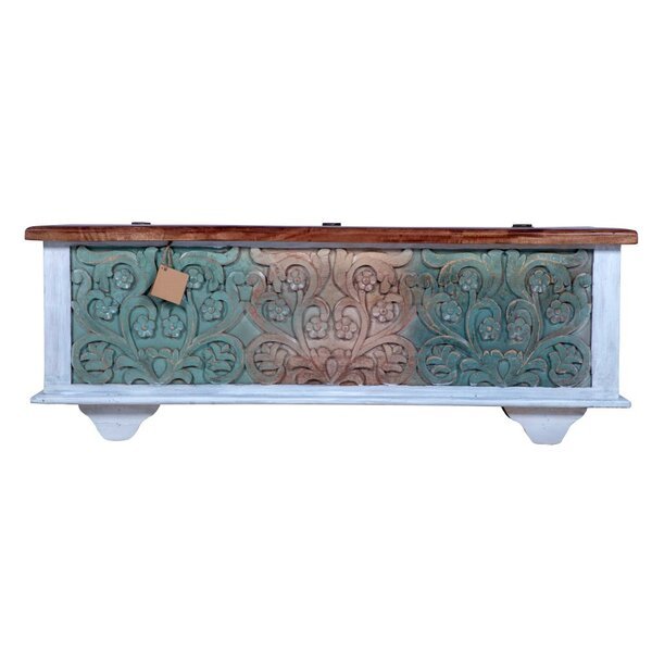 charming Teal Storage Trunk Part - 15: Bloomsbury Market Kahle Rustic Storage Trunk | Wayfair