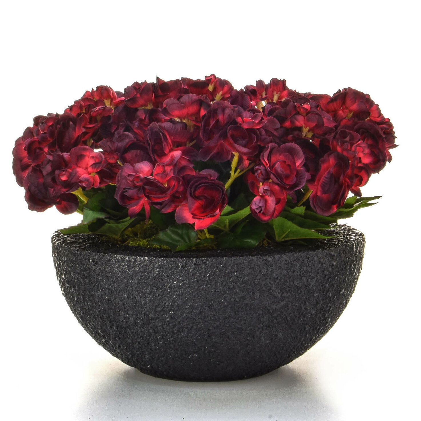 Artificial Begonia Floral Arrangements in Moscow Pot
