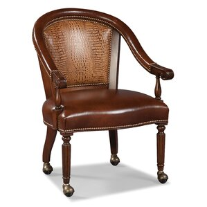 Castered Leather Armchair by Fairfield Chair