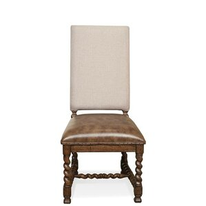 Melbourne Genuine Leather Upholstered Dining Chair (Set of 2) by Bay Isle Home