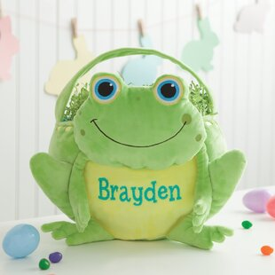 Charmant Personalized Frog Easter Fabric Basket