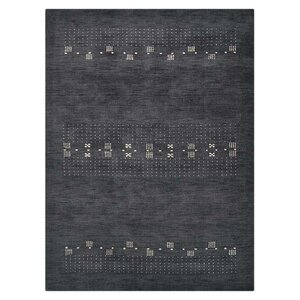 Coopersburg Hand-Knotted Wool Charcoal Area Rug