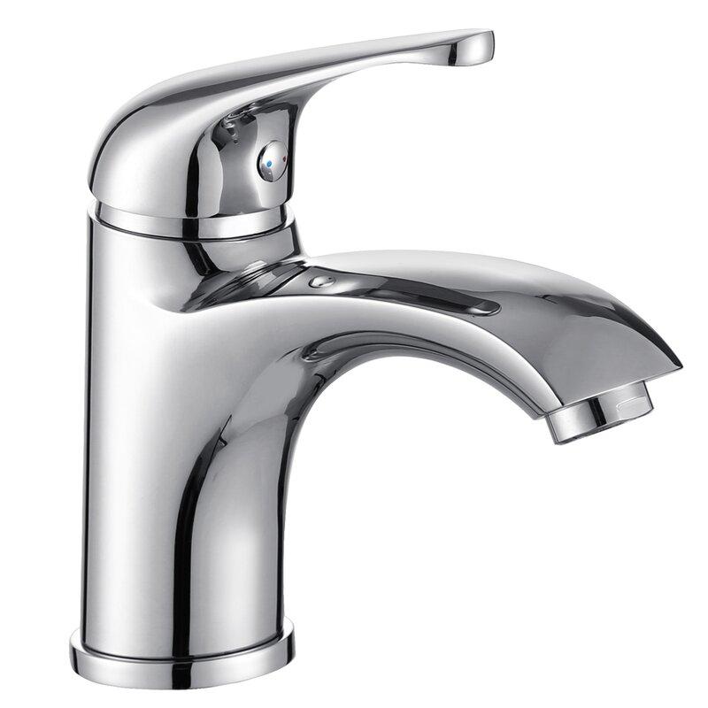elite single handle bathroom faucet with edged spout & reviews