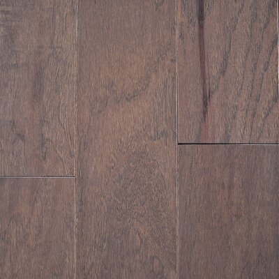 "Riga 5"" Engineered Hickory Hardwood Flooring Branton Flooring Collection Finish: Hickory Fog"