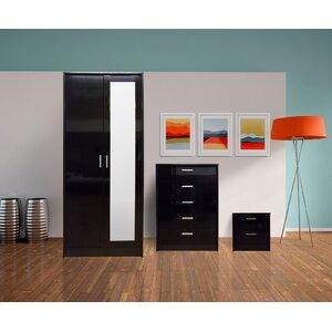3-tlg. Schlafzimmermöbel-Set Khabat von Hokku Designs