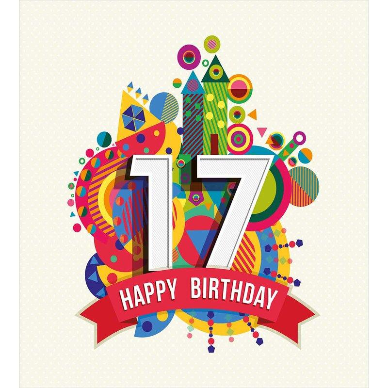 17th Birthday Decorations Duvet Cover Set