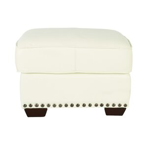 Belaire Leather Ottoman by Lazzaro Leather