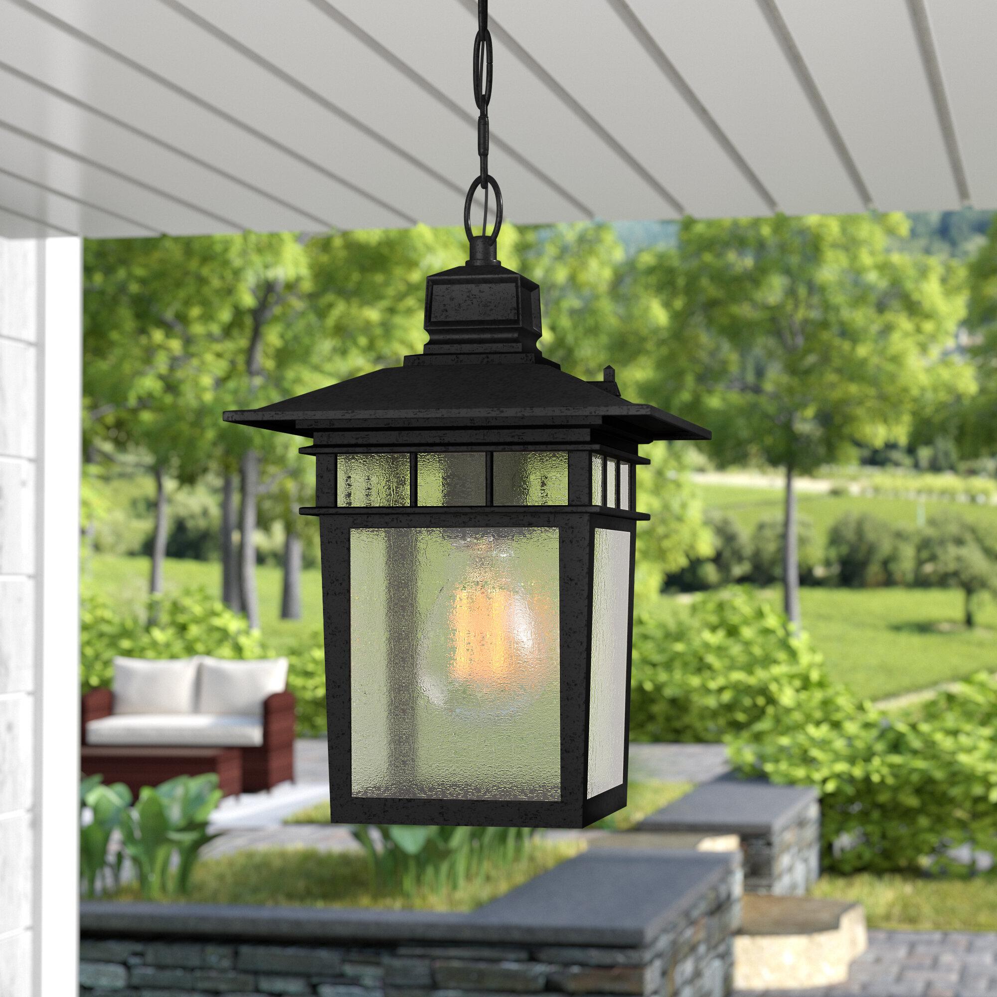 Beachcrest Home Valeri 1 Light Outdoor Hanging Lantern Reviews Wayfair