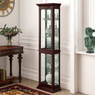Watkin Floor Standing Lighted Curio Cabinet