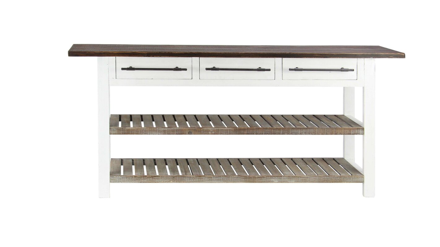 Gracie oaks eatontown traditional 3 drawer wooden console table eatontown traditional 3 drawer wooden console table with slatted shelves geotapseo Image collections