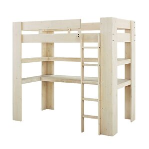 Rhys Loft Twin Bed with Desk and Shelf by Harriet Bee