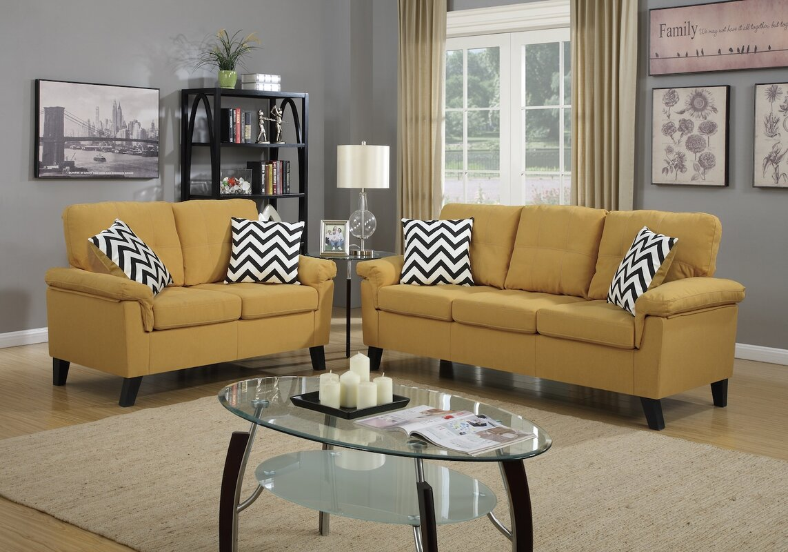 Infini furnishings 2 piece living room set reviews wayfair for Living room sets under 800